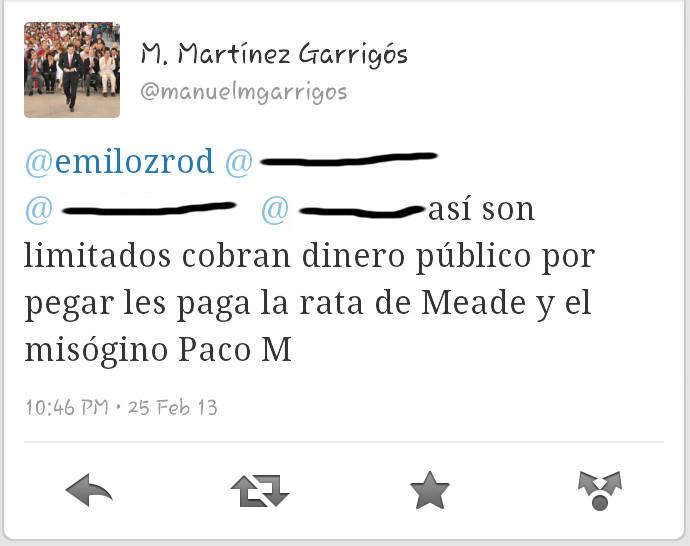 Twit de MMG